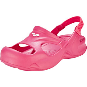 arena Softy Hook Sandalen Kinder fuchsia-bright pink